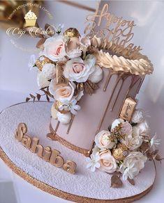 Queens Birthday Cake, 25th Birthday Cakes, Elegant Birthday Cakes, Beautiful Birthday Cakes, Birthday Cakes For Women, Birthday Cake Girls, Birthday Parties, 18th Birthday Dress, Soccer Birthday Cakes