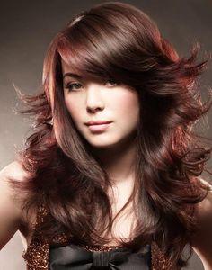 nice Каскад на средние волосы с челкой (50 фото) — Стильные идеи привычной прически Читай больше http://avrorra.com/kaskad-na-srednie-volosy-s-chelkoj-foto/