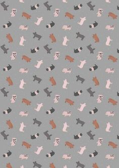 Lewis Irene Small Things on the Farm Pigs Piglets Cotton Fabric