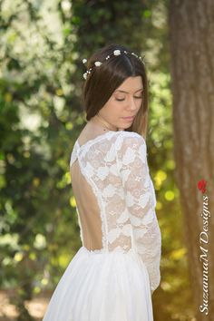 Wedding Dress Long Bridal Gown Ivory Bridal by SuzannaMDesigns