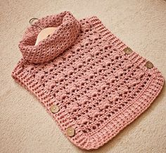 Crochet PATTERN Rose Poncho Pullover sizes from 1-2y up