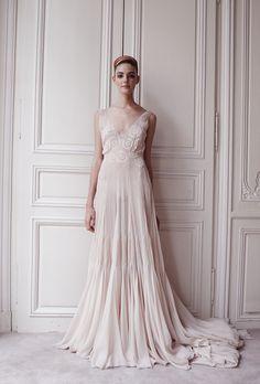 """Delphine Manivet - Paris wedding designer - bridal store: Dress """"Cuisse de Nymphe"""""""