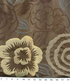 Definitely use this for a pillow!  Lei Coffee Bean | Online Discount Drapery Fabrics and Upholstery Fabric Superstore!