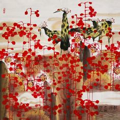 Wu's works incorporate the styles and subject matter of traditional Chinese paintings such as snow, foliage, and birds, but the compositions reveal a purposeful re-weaving of these pictorial elements. Description from asiancontemporarysf.org. I searched for this on bing.com/images