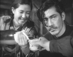 Toshiro Mifune in Snow Trail (銀嶺の果て), 1947, his first role.