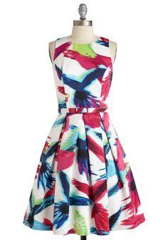 Party Fowl Dress. Impromptu invitation to an elegant affair? #multi #modcloth