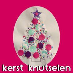 Kerst knutselen: heel veel leuke ideeën - kerstboom met confetti kerstballen