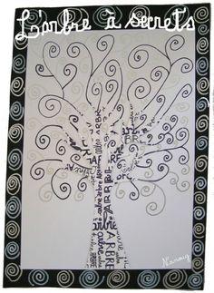 arts visuels et graphisme : l'arbre à secrets et les spirales