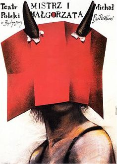 Andrzej Pagowski, Mistrz i Malgorzata,1988 Typography Love, Typography Inspiration, Graphic Design Illustration, Illustration Art, Ballet Posters, Polish Films, The Master And Margarita, Polish Posters, Protest Art