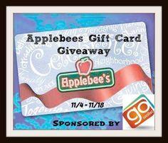 $50 Applebees #giftcard #Giveaway! Wohoo! Netflix Gift Card, Itunes Gift Cards, Free Gift Cards, Paypal Gift Card, Gift Card Giveaway, Mastercard Gift Card, Free Starbucks Gift Card, Gift Card Specials, Christmas Countdown