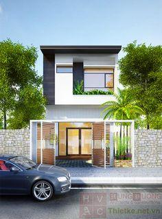 mặt đứng nhà phố - Tìm với Google Small House Design, Home Room Design, Modern Architecture House, Architecture Design, Duplex Design, Modern Townhouse, Narrow House, Exterior Design, House Goals