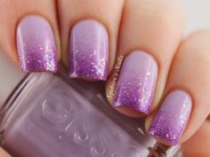 Essie Lilacism is the base; glitters are from a Juicy Cocktail set Love Violet.
