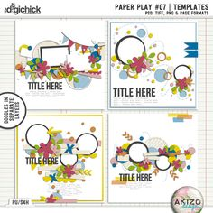 Paper Play #07 | Templates by Akizo Designs (Digital Scrapbooking templates)