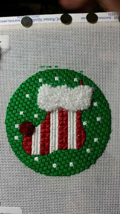 needlepoint stocking ornament, melissa shirley canvas?