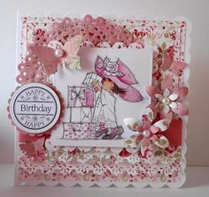 LOTV - Party and Cakes Art Pad. Card by Amanda Stokes