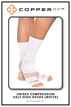 The only product to have 88% copper embedded in it's fabric. These comfortable Calf High Compression Socks are available from sizes 6-9 and 8-11. Form Fitting and aid in performance and recovery time.Comfortably worn during exercise, daily activities and rest Super-fast wicking keeps garments dry.Antibacterial and anti-odour properties will keep you feeling and smelling fresh. Copper88™ fabric attributes are inherent in all our garments and will last for as long as you own our products.