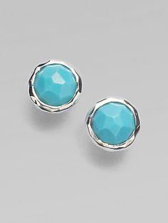 sterling silver turquoise stud earrings / ippolita