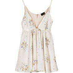 Fendi Printed silk camisole ($243) ❤ liked on Polyvore