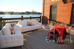Erin Whittle Photography - ETC Party Rentals - linens, benches, bar stools, cocktail tables & white couches - RSVP: The RiverRoom Blog