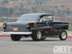 Visit The MACHINE Shop Café... ❤ Best of Chevy @ MACHINE ❤ (1955 Chevrolet Bel Air Gasser)