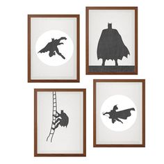 BATMAN Set of Four Poster : Modern DC Comics by SealDesignStudio