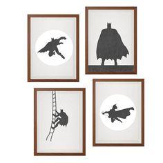 BATMAN Set of Four Poster : Modern DC Comics by SealDesignStudio