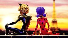 Cat Noir and Ladybug Miraculous Ladybug Wallpaper, Miraculous Ladybug Fan Art, Meraculous Ladybug, Ladybug Comics, Ladybugs Movie, Marinette Ladybug, Ladybug Und Cat Noir, Mlb, Cartoon Crossovers