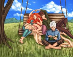 Relaxing time with the Big Four. << I really don't see Jack sitting quietly reading X)