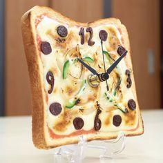 Real Gift ピザトースト時計 - ほんのりアートな食品サンプル時計 - おりある直営ショップ