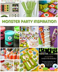 Monster Party Inspiration #monsterpartyideas #monsterparty #monstercookies #monsterbirthday