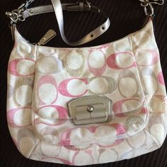 Coach sequin Kristin SOLD Used Kristen bag, willing to trade for other coach or Kate spade items. Coach Bags