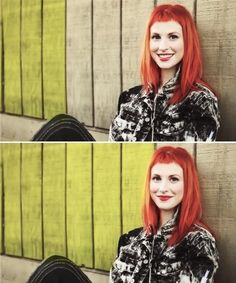 Hayley Williams with baby bangs. Love them forever and always