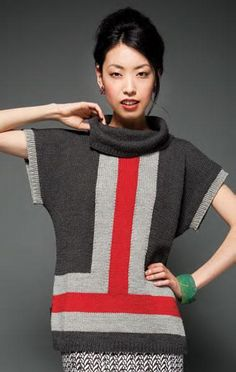 Looking for your next project? You're going to love Colorblock Tops [VKEF12_36] by designer Vogue Knitting.