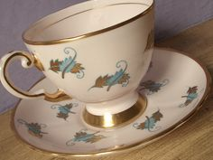 Vintage Tuscan tea cup and saucer pink tea cup ♥ by ShoponSherman, $59.00