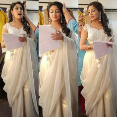 Saree Blouse Patterns, Saree Blouse Designs, Anika Dresses In Ishqbaaz, Indian Dresses, Indian Outfits, Designer Sarees, Designer Dresses, Anika Ishqbaaz, Avatar Azula