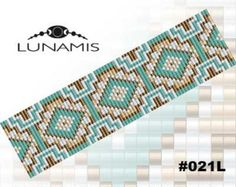 Loom bracelet pattern loom pattern square von LunamisBeadsPatterns