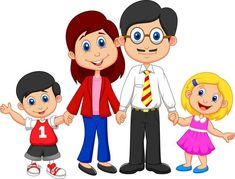 Happy family cartoon Wall Mural ✓ Easy Installation ✓ 365 Days to Return ✓ Browse other patterns from this collection! Happy Cartoon, Cartoon Wall, Cartoon Images, Happy Family, My Family, Family Life, Cartoon Familie, Family Clipart, Nuclear Family
