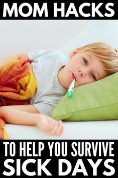 Our best mom hacks for sick days to help your children feel better faster. With natural remedies and suggested medication options, these tips work really! Dry Cough Causes, Cold And Cough Remedies, Natural Cold Remedies, Flu Remedies, Sick Kids, Cool Kids, Kids Fun, How To Stop Coughing, Natural Pain Relief