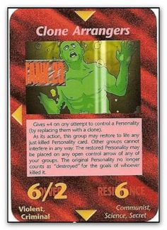 Illuminati Card Clone Arrangers                                                                                                                                                                                 More