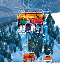 Canyons Resort Park City Utah.  A great place to ski. Done that many times.