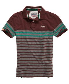 Superdry Drop Breton Stripe Polo - Men's Polo Shirts