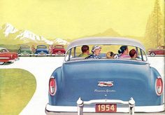 Year after year… more people buy Chevrolet. Detail from 1954 Chevrolet brochure.