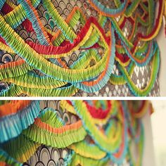 diptych: the ruffled streamers