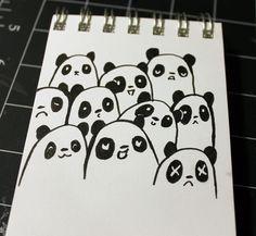 31 Days of Inktober - Day 13 Panda Art, Zen Art, 31 Days, Cute Food, Inktober, Objects, Kawaii, Visual Arts, Artwork