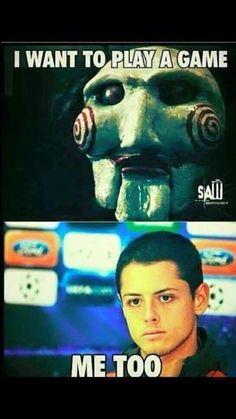 Napastnik Realu Madryt chciałby grać jak postać z filmu Piła • Javier Hernandez ma podobne życzenie do bohatera Piły • Zobacz mem >>