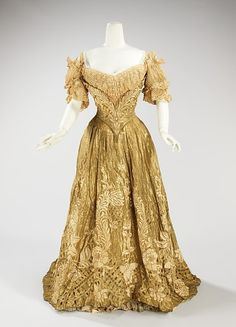 Ball Gown Made Of Silk, Metal And Linen, By Jacques Doucet, c.1898-1902 The Metropolitan Museum of Art