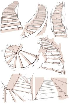 kibbitzer is creating A massive collection of reference sheets Drawing Tips perspective drawing Drawing Techniques, Drawing Tips, Drawing Sketches, Art Drawings, Drawing Drawing, House Drawing, Sketching, Staircase Drawing, House Sketch