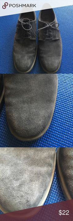 Men's Gray Suede Oxfords Some scuffing shown on toes. Calvin Klein Shoes Oxfords & Derbys