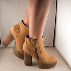 Poze Ghete maro toc 10 cm Booty, Shoes, Fashion, Moda, Swag, Zapatos, Shoes Outlet, Fashion Styles, Fasion