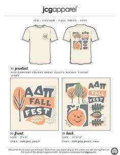 JCG Apparel : Custom Printed Apparel : Alpha Delta Pi Fall Fest T-Shirt #alphadeltapi #adpi #adp #fall #fest #pumpkin #halloween